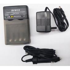 CARGADOR ARW3268 NI/C/M 4533 NI/CD/MH ADAPTADOR ARA AUTO Y 220V