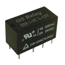 RELAY 12V 2 INVERSOR 1A  HJR1-2C-D12