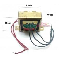 TRANSFORMADOR AC/AC 0,5A 6+6V IMPORTADO