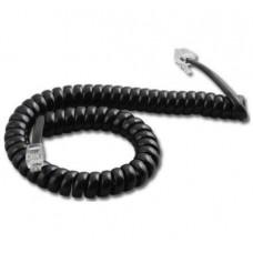 CABLE TELEFONO ESPIRALADO 2 METROS NEGRO