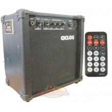 AMPLIFICADOR CICLOS P/GUITARRA 15W GA15U C/USB  CONTROL REMOTO