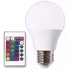LAMPARA LED 7W RGB E27 C/CONTROL