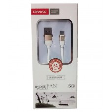 CABLE USB A MACHO / IPHONE 5A 1,2MTRS