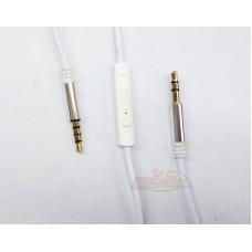 CABLE AURICULAR C/MICROFONO Y VOLUMEN BLANCO 1,2 METROS